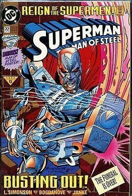 Superman the Man of Steel #22 1993 Good DC comics reign of the supermen (C-3)