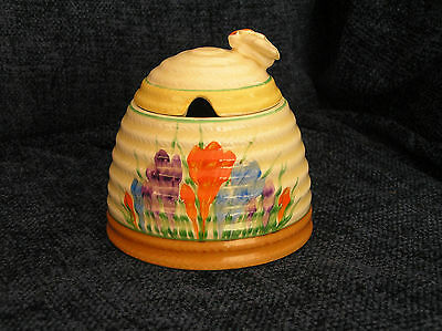 Early Clarice Cliff Crocus Pattern Honey Pot Newport Pottery Co