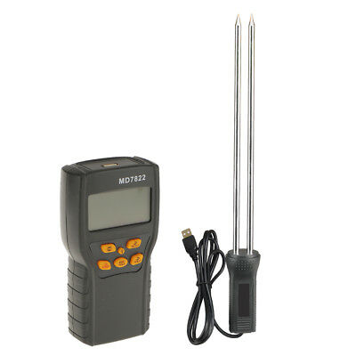 Accuracy LCD Clear Read Corn Moisture Temperature Gauge Meter Tester MD7822
