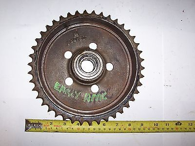 "Vintage Amc Ajs Matchless Rear Sprocket Brake Drum 7"" Good  350 500 Pre Unit   9"