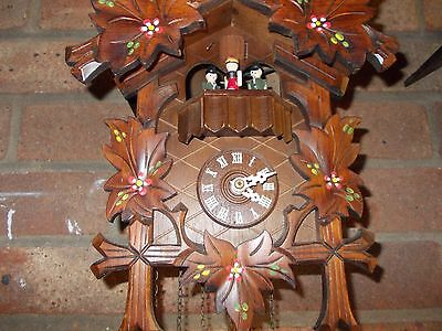 German Hand Painted Musical Cuckoo Clock (c2000)...with dancers