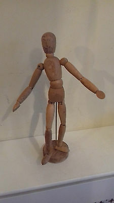 Vintage artists wooden mannequin - 34 cms tall