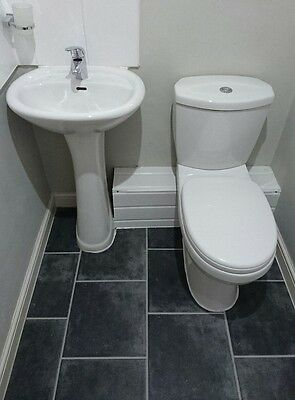ensuite sink with taps and toilet