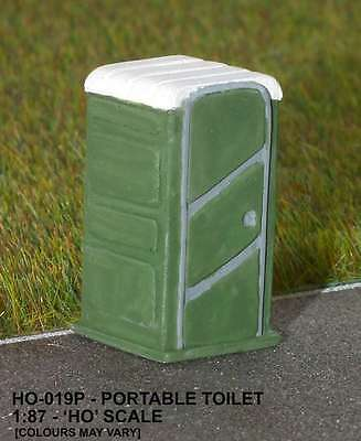 Unit Models Portable Toilet Painted Resin Ho Scale New Mint & Sealed