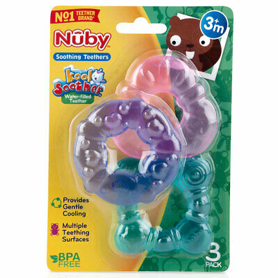 Nuby Water Filled Teether 3 Pack