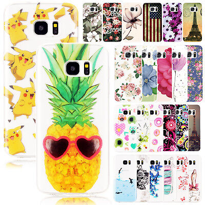 For Samsung Phones Case Cover Patterned Glossy Silicone TPU Shockproof Gel Slim