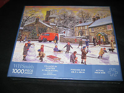 NEW  WH SMITH PUZZLE 1000 piece jigsaw -   VILLAGE IN THE WINTER