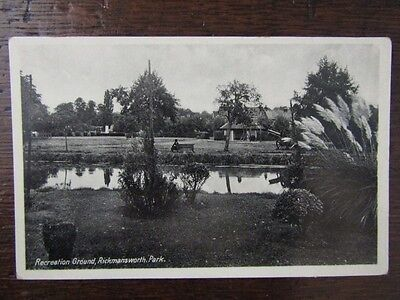 Early Postcard - Recreation Ground, Rickmansworth Park, Herts. c1920s