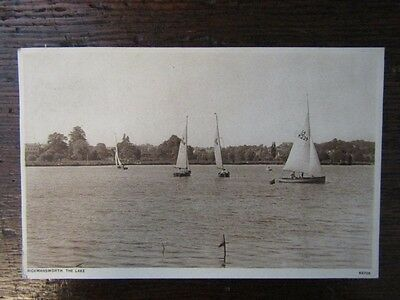 Early Postcard - The Lake, Rickmansworth, Herts. 1930s
