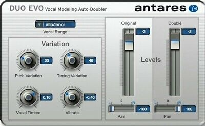New Antares DUO EVO Vocal Modeling Auto-Doubler Mac PC Plugin AAX AU VST RTAS