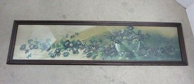 """Beautiful Yard Long Picture Print Original LeRoy 37 1/2 W by 9 3/4"""" high Frame"""