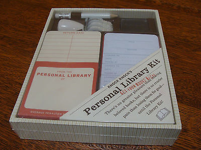 Knock Knock Personal Library Kit - Great Gift for Book Lovers/Teachers.  NIB