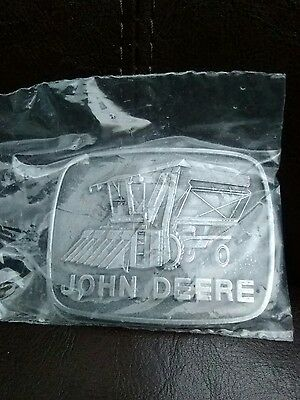 Pewter John deere belt buckle