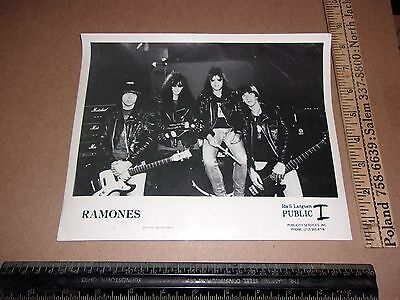 ramones 8x10 photo not signed