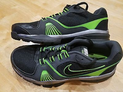 Boy's Youth Nike Edge Black.silver & Lime Green Athletic Shoes Size  6.5 Y