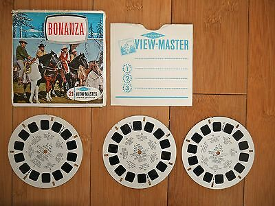 Vintage View Master Reels Bonanza 1964 B 471 With Booklet - The Cartwrights