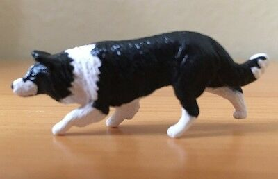 BREYER TRADITIONAL BLACK And WHITE BORDER COLLIE DOG #1518 GUC 00-06