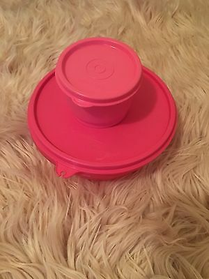 Tupperware Containers Pink 600ml And Mini Size