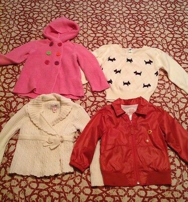 Girls clothes 4 pcs lot. 2T & 18-24 months. Used