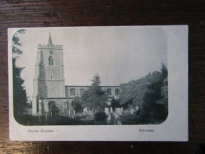 Early Postcard - Parish Church, Watford, Herts.  Early 1900s