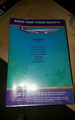 Lot Of 50 Hawaiian  Airlines Safety Card -- Airbus 330--20009 Rev.b