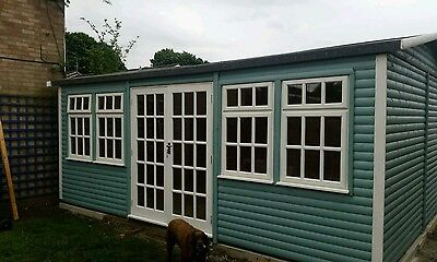18ft by 13ft Double Glazed Garden room/log cabin/annex/garden shed/summer house
