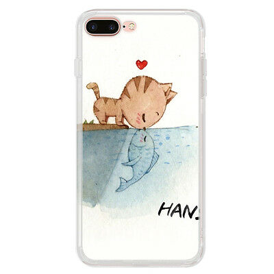 Cartoon Patterned Ultra Thin Soft TPU Rubber Case Cover For Apple iPhone 7 Plus