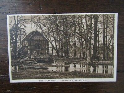Early Postcard - The Old Mill, Cassiobury, Watford, Herts.  1910s