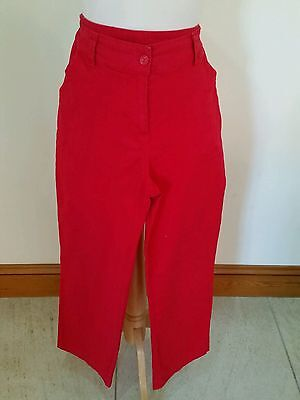 Platform Size 12 Red Casual Ladies Trousers Excellent Condition