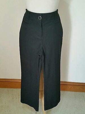 Per Una Size 10 Reg Black Tailored Trousers With Pockets Excellent Condition