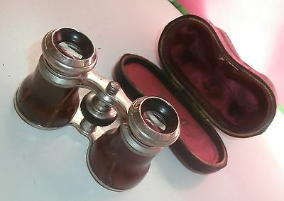 Antique Binoculars  Opera Glasses + Fitted Case - Very Nice Quality