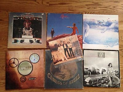 Rush - estate lot of records, photo, and concert program