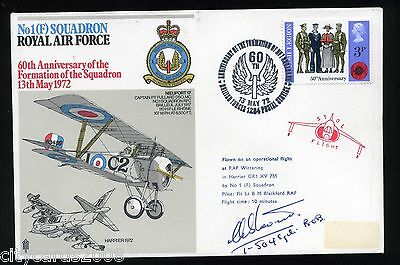 1972 No 1 Sqn   RAF Cover Signed  C M Stavert  1/504  Sqn Battle of Britain