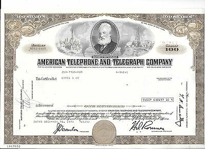 American Telephone And Telegraph-Stock Certificates-----2-Different