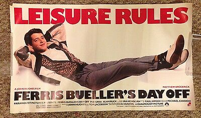 Ferris Bueller's Day Off vintage RARE poster single sided 14 by 24 John Hughes