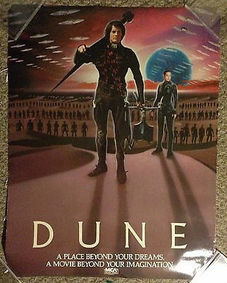 Dune movie poster single sided vintage rare home video David Lynch 23 by 30