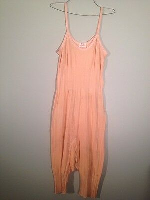 Vintage 20s 30s Warm-Eez Knit Insulated Long Johns Pink Union Suit Easy Back M/