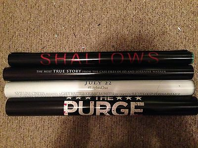 Lot of four 2016 original double sided movie posters 27x40 HORROR purge shallows