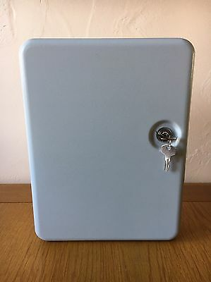 Large Metal Security Key Cabinet, Documents Storage, Cash Box With Two Keys