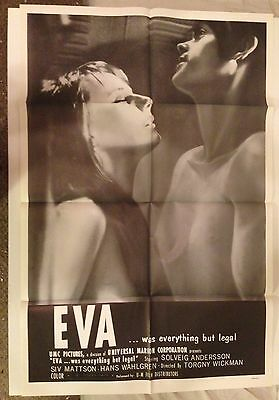 Eva Was Everything But Legal theatrical movie poster original grindhouse RARE!