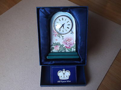 Old Tupton Ware Clock 'English Garden' boxed.