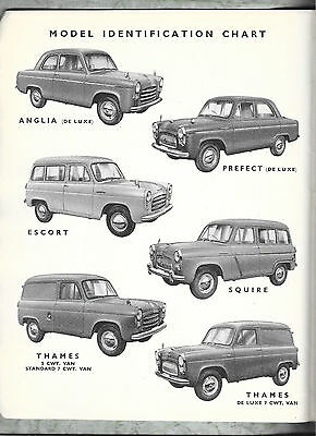Ford Anglia,Prefect,Escort,Squire & Thames 5 & 7 cwt Spare Parts List 1953 / ON