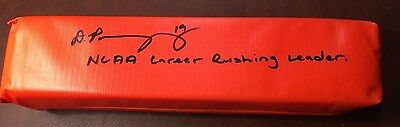 "Donnell Pumphrey AUTOGRAPHED Pylon SIGNED w/ ""NCAA CAREER RUSHING LEADER"" PROOF"