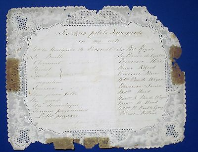Programme Of A Play By Queen Victoria,s Children