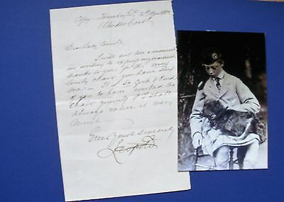 Prince Leopold Letter Signed Son Of Queen Victoria