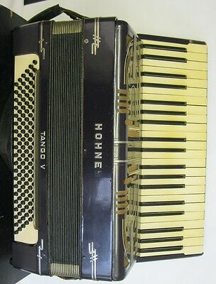 HOHNER Tango V Piano Accordion:  With case, GWO vintage instrument