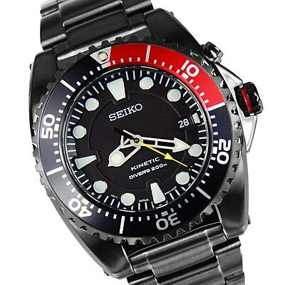 SEIKO SKA577 Kinetic Black Dial Black PVD Stainless Steel Men's Watch