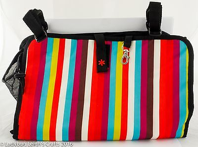 NWT Baby Stroller Organizer Skip Hop Giggle Stripped Boy or Girl Lots of Pockets