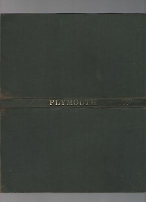 Ordnance Survey Map of Plymouth Sheet 187 Library Edition with Hard Covers 1961