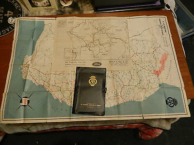 Vintage Rare AA Automobile Association of Rhodesia Maps & Case Old